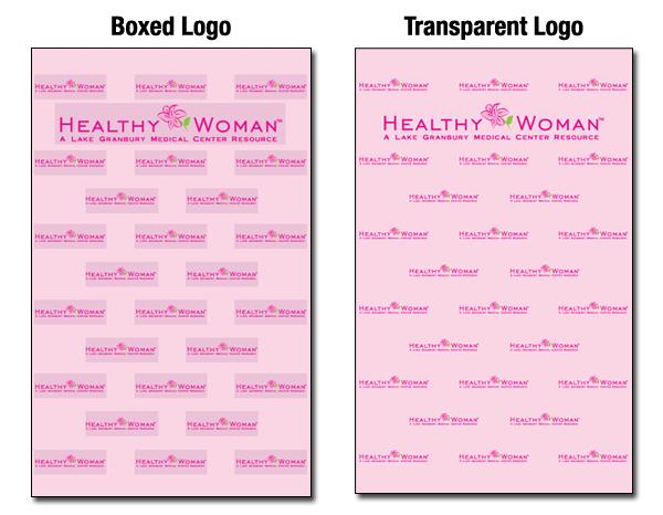 Boxed logos v. Transparent logo
